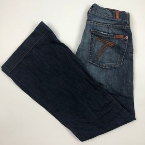 7 for all Mankind DOJO flare denim bootcut jeans